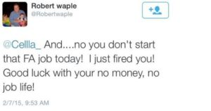 Zwolniona przez Twittera